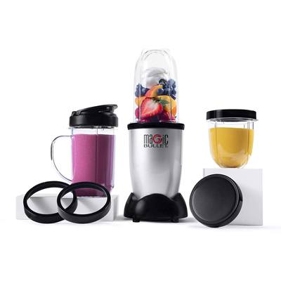4. Magic Bullet Blender, Small, Silver, 11 Piece Set