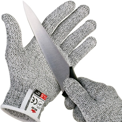10. NoCry Cut Resistant Gloves with Grip Dots