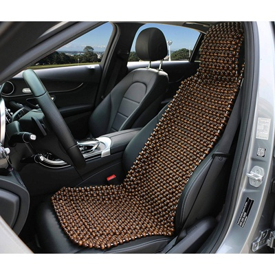 2. EXCEL LIFE Natural Beaded Seat Cover