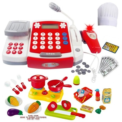 2. FUNERICA Toy Cash Register with Scanner - Microphone - Calculator