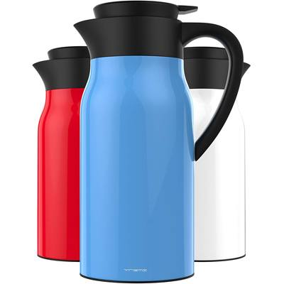 6. Vremi 51 oz. Coffee Carafe - 1.5-liter Tea Thermos Large Travel Bottle Stainless Steel Vacuum Insulated with Leak-Proof Lid - Thermal Carafe Hot Drink Carrier Container with Heat Cold Retention - Blue