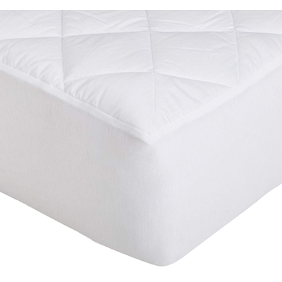 7. AmazonBasics Hypoallergenic Quilted Mattress Topper Pad Cover - 18 Inch Deep, Full