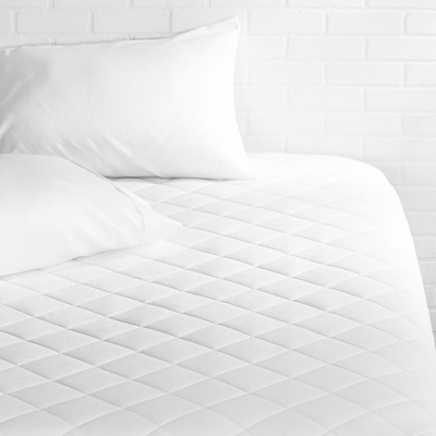 6. AmazonBasics Hypoallergenic Quilted Mattress Topper Pad Cover - 18-Inch-Deep, Queen