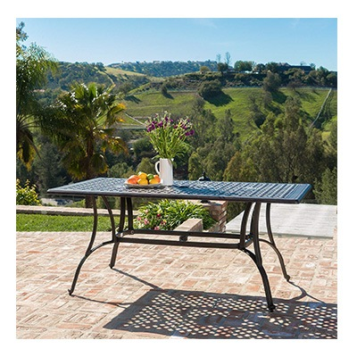 1. Christopher Knight Home Aluminum Outdoor Dining Table