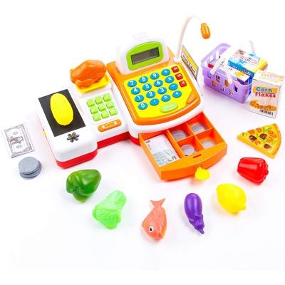 8. KIDAMI Pretend Play Toy Cash Register Gift for Kids with Realistic Actions