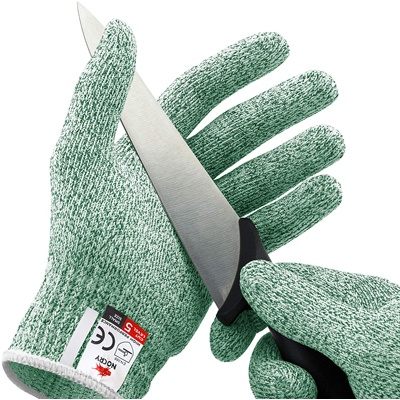 7. NoCry Cut Resistant Gloves - High-Performance Level 5 Protection, Food Grade