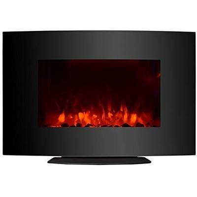 10. KUPPET 33-inch Standing and Wall Mounted Fireplace