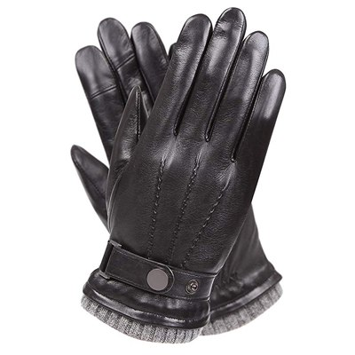 2. Warmen Men's Texting Winter Gloves, Warm Nappa