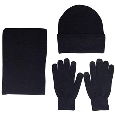 6. JOYEBUY Men 3 PCS Knitted Set Winter