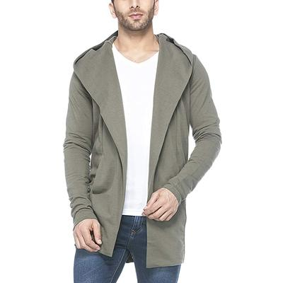 6. Tinted Men's Cotton Blend Hooded Cardigan
