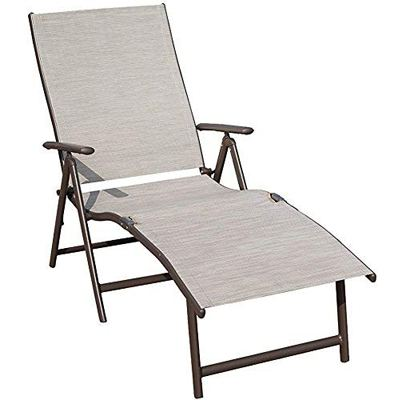 5. Kozyard Cozy Aluminum Beach Yard Pool Folding Reclining Adjustable Chaise Lounge Chair