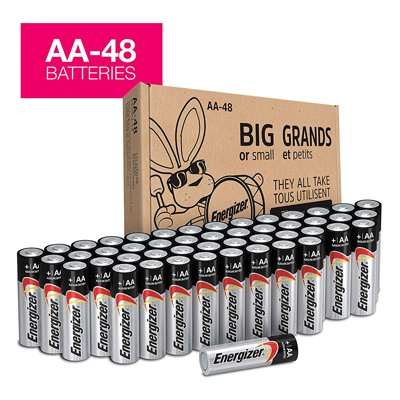 3. Energizer AA Batteries (48Count)