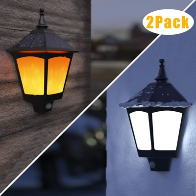 3. Aloveco Solar Powered Outdoor Decorative Wall Light