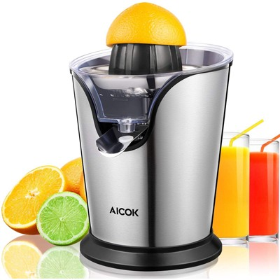 6. Aicok Electric Citrus Juicer Stainless Steel Orange Juicer Squeezer with 100W Ultra-Quiet Motor