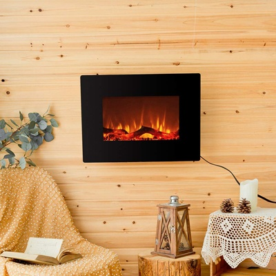 5. FLAME&SHADE Electric Fireplace Wall Mounted