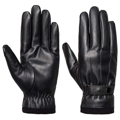 8. SANKUU Men's Winter Black Gloves