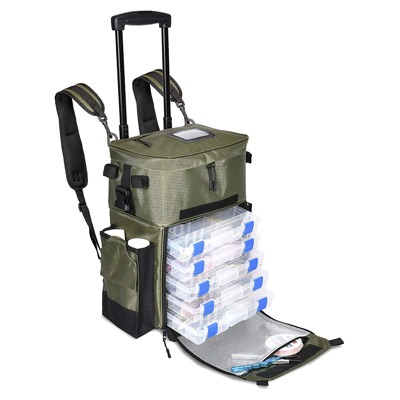 9. The X-Large 'Recon' Rolling Fishing Backpack, Tackle Box Storage Bag