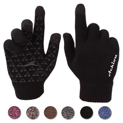 10. Achiou Winter Knit Gloves Touchscreen