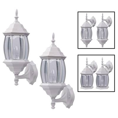 9. Downlight/Uplight Twin Pack Outdoor Exterior Wall Light by How Plumb