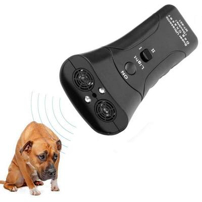 8. DOPQIEG Ultrasonic Dog Repeller, Electronic Anti Barking Stop Bark Handheld