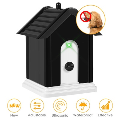 7. ELenest Anti Barking Device, 2019 Advanced Outdoor Dog Repellent Device Bark Box with Adjustable Ultrasonic Level Control Safe for Dogs, Bark Control Device, Sonic Bark Deterrents
