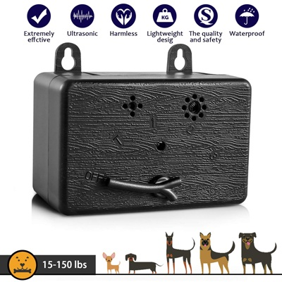9. CAPKIT Dog Barking Control Device 50 FT Range Barking Device, Ultrasound Mini Outdoor Dog Bark Control, Anti-bark Deterrent, Training Tools, Indoor/Outdoor Stop Bark Security for Dogs