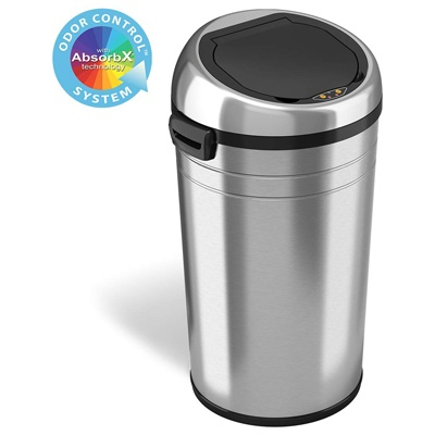 5. iTouchless 23 Gallon Commercial Size Touchless Sensor Trash Can