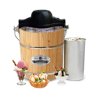 6. Elite Gourmet EIM-502 4 quart Ice Cream Maker
