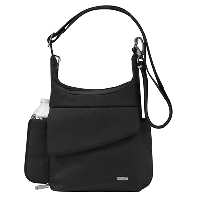 3. Travelon Anti-Theft Classic Messenger Bag, Black, One Size