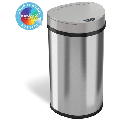 7. iTouchless 13 Gallon Sensor Kitchen Trash Can