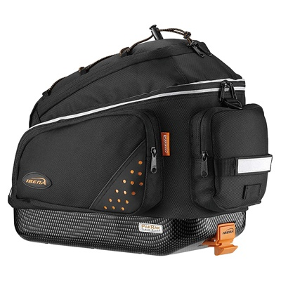 3. Ibera Bike Trunk Bag - PakRak Clip-On Quick-Release Bicycle Commuter Bag