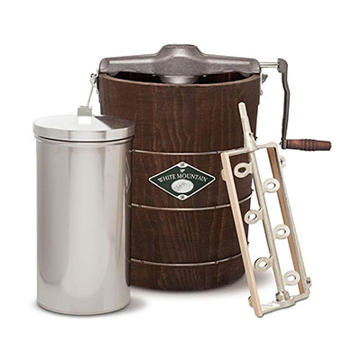 5. White Mountain Hand-Cranked Ice Cream Makers, 6 Quart