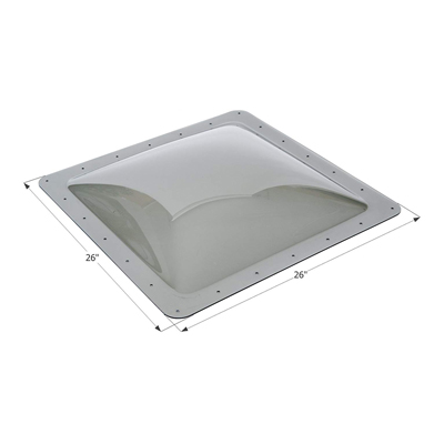 3. ICON 12121 Single Pane Exterior Skylight SL2222S-Smoke, 22
