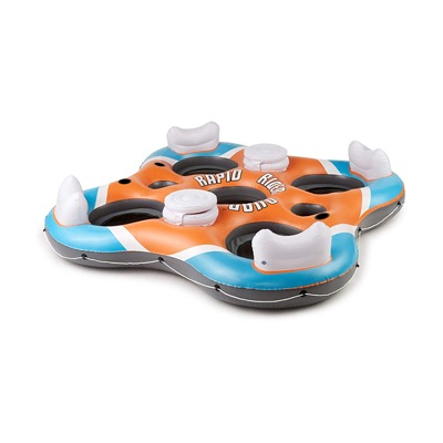 3. CoolerZ Rapid Rider X4 Inflatable 4-Person Island Tube