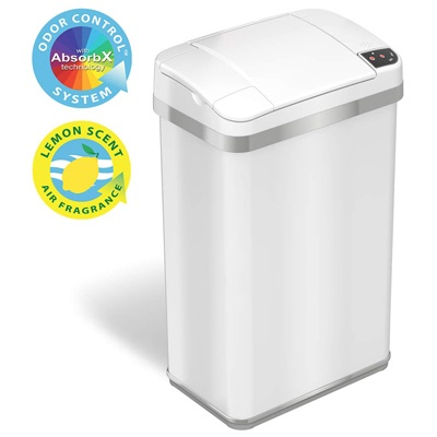 9. iTouchless 4 Gallon Sensor Trash Can