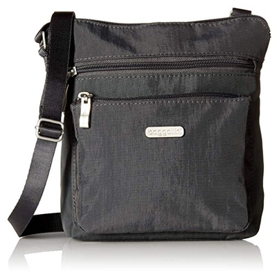5. Baggallini Pocket Lightweight Crossbody Bag–Spacious, Water-Resistant Travel Purse.