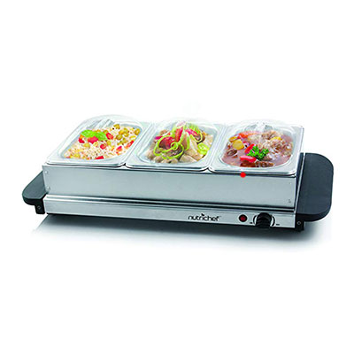 7. NutriChef 3 Buffet Warmer Server