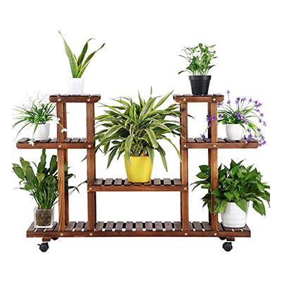 3. Yaheetech 4-Layer Wooden Flower Stands