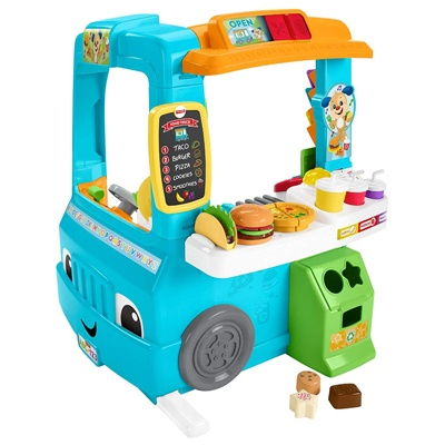 3. Fisher-Price Laugh & Learn Servin' Up Fun Food Truck - French Edition