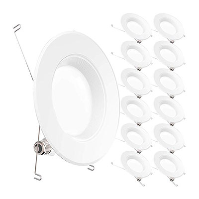 10. Sunco Lighting LED Recessed Downlight, 12 Pack