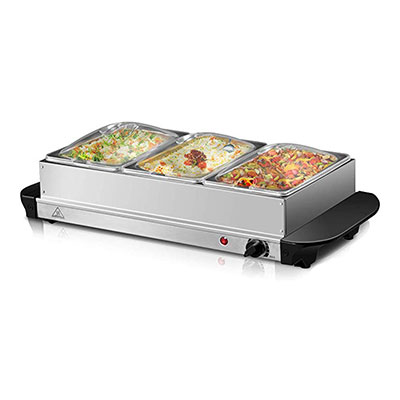 1. Giantex 3 Tray Food Warmer