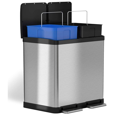 3. iTouchless 16 Gallon Dual Step Trash Can