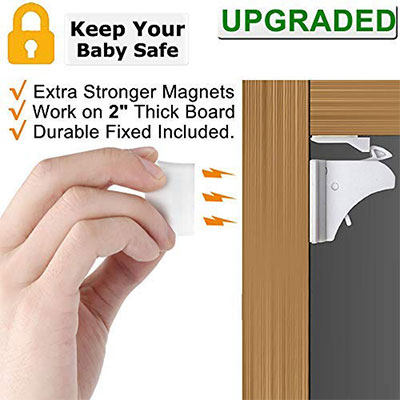 3.VMAISI 4 Pack Child Safety Magnetic Cabinet Locks