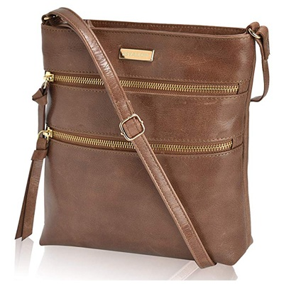 4. Leather Crossbody Purse for Women- Small Crossover Cross Body Bag