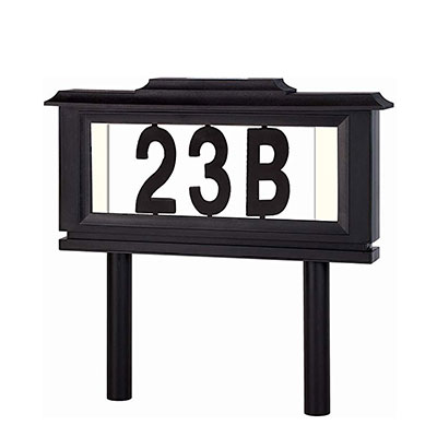 9. Lighted House Numbers Address Sign by Perfect Life Ideas