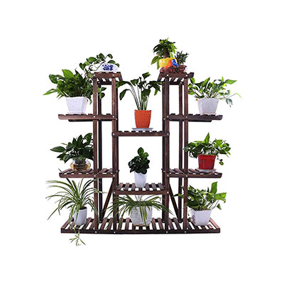 4. Ufine 9 Tier Carbonized Rack Holder
