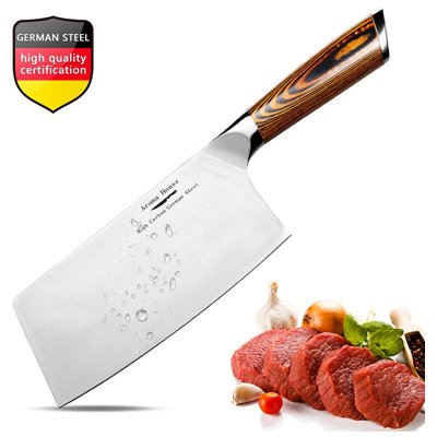 5. Aroma house Meat Cleaver, 7-inch Vegetable and Butcher Knife