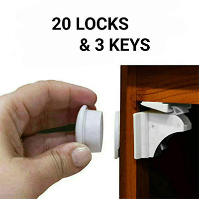 4.The Eco-Baby Child Safety Locks for Drawers and Cabinets