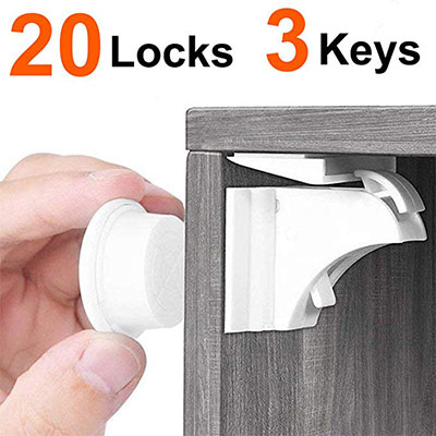 1.ITOOL 20 Baby Proofing Magnetic Child Safety Locks