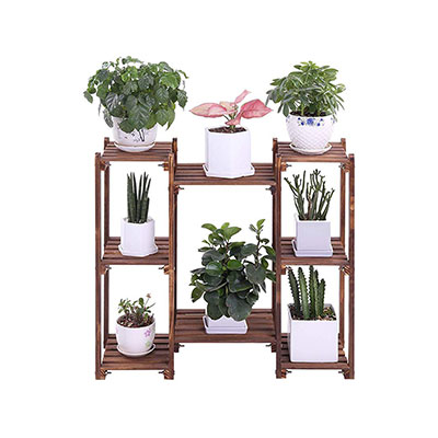 1. Wood Plant Stand 3 Tiered Pot Stand Holders
